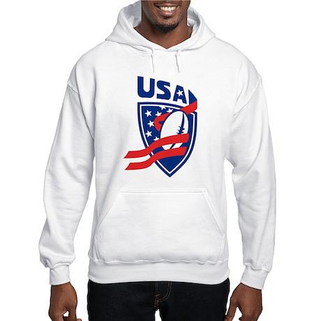 American USA Rugby Hooded Sweatshirt