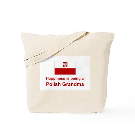 Happy Polish Grandma Tote Bag