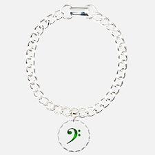 Green Metallic Bass Clef Bracelet