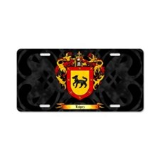 Lopez Coat of Arms Dark Aluminum License Plate