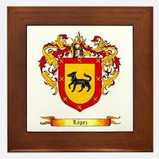 Lopez Coat of Arms Framed Tile