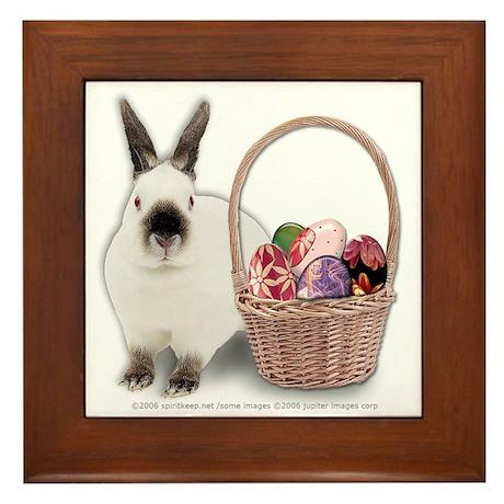 Bunny w/ Easter Basket Framed Tile
