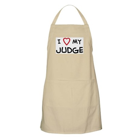 I Love Judge BBQ Apron