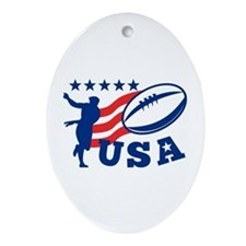 American USA Rugby Ornament (Oval)