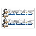 Tinyminds logo Rectangle Sticker