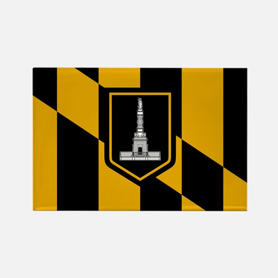 Baltimore City Flag Rectangle Magnet