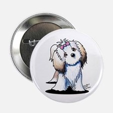 """Little Lhasa Apso 2.25"""" Button"""