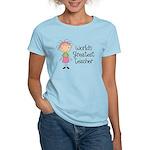 Worlds Greatest Teacher Women's Light T-Shirt