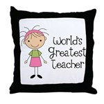 Worlds Greatest Teacher Throw Pillow