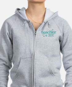 Funny Teacher Zipped Hoody