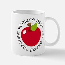 World's Best 1st Grade Teacher Gift Mug