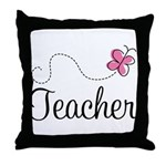 Cute Teacher Throw Pillow