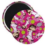 "Cute Little Tennis Girl 2.25"" Magnet (10 Pk)"