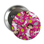 "Cute Little Tennis Girl 2.25"" Button (10 Pk)"