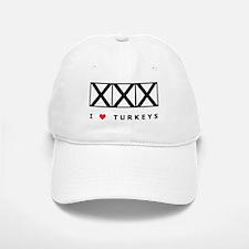 Bowling, I Love Turkeys Baseball Baseball Cap