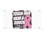 Breast Cancer Tough Men Wear Pink Banner