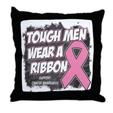 Breast Cancer Tough Men Wear Pink Throw Pillow