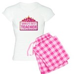 Worlds Best Teacher Women's Light Pajamas