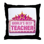 Worlds Best Teacher Throw Pillow
