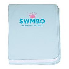 SWMBO Crown baby blanket
