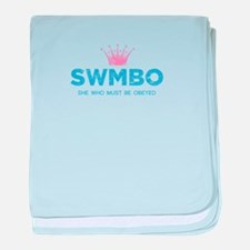 SWMBO Crown baby blanket