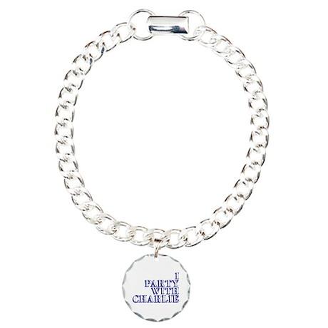 I Party With Charlie Charm Bracelet, One Charm