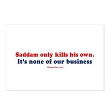 Saddam only kills his own people -  Postcards (Pac
