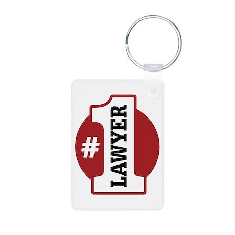 #1 Lawyer Aluminum Photo Keychain