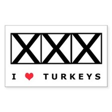 Bowling, I Love Turkeys Decal