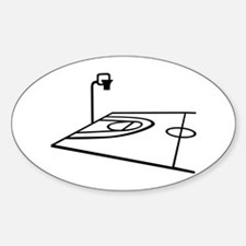 Basketball Sticker (Oval)