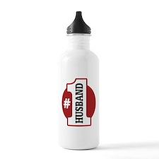 #1 Husband Sports Water Bottle