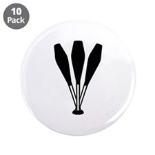 "Juggling pins 3.5"" Button (10 pack)"