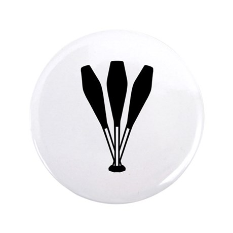 """Juggling pins 3.5"""" Button (100 pack)"""