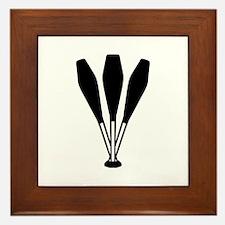 Juggling pins Framed Tile