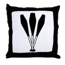 Juggling pins Throw Pillow