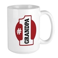 #1 Grandpa Ceramic Mugs
