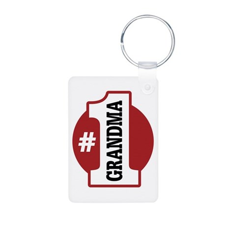 #1 Grandma Aluminum Photo Keychain