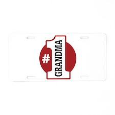 #1 Grandma Aluminum License Plate