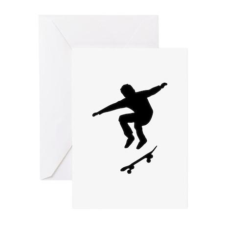 Skateboarder Greeting Cards (Pk of 10)