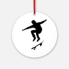 Skateboarder Ornament (Round)