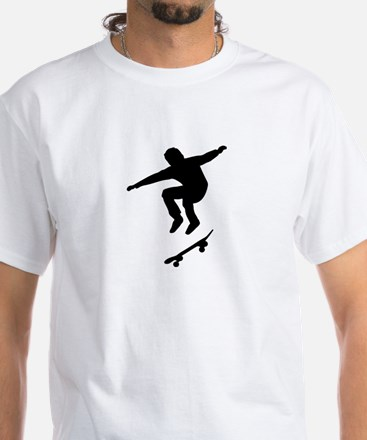 Skateboarder White T-Shirt