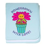 Homegrown with Love baby blanket
