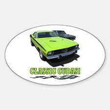 CLASSIC CUDAS! Sticker (Oval)