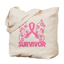 Breast Cancer Survivor Whimsy Tote Bag