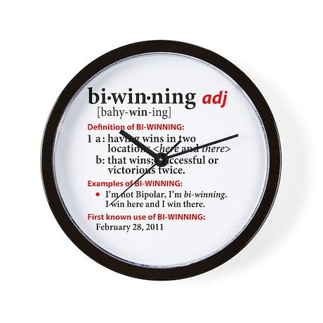 Bi-Winning Definition Wall Clock