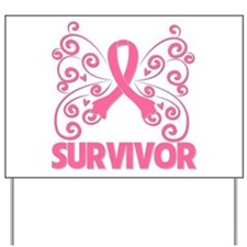 Breast Cancer Survivor Whimsy Yard Sign