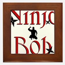 Ninja Bob Framed Tile