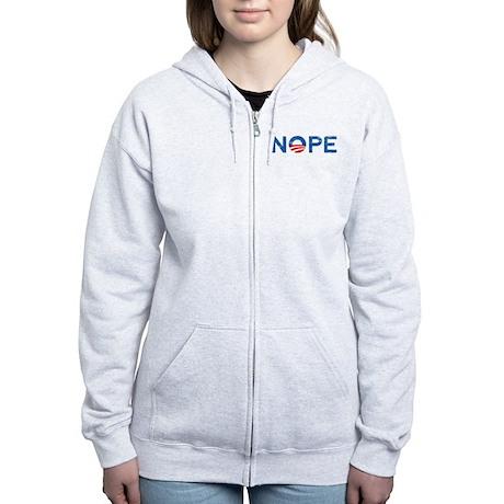 NOPE Anti Obama Women's Zip Hoodie