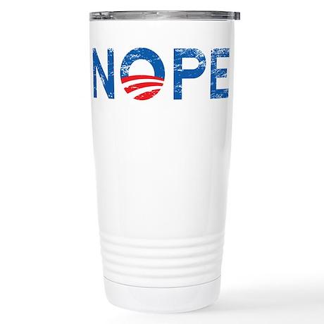 NOPE Anti Obama Stainless Steel Travel Mug
