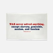 War never solved anything - Rectangle Magnet